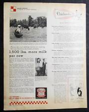 Original 1959 Purina Feeds Photo Ad Endorsed by John Marks of Wallace N. C.