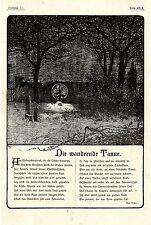 Max Kretzer Weihnachts- Gedicht Die wandernde Tanne Histor.Schmuckblatt von 1901