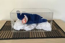 Ty Beanie Baby Peanuts The Royal Blue Elephant 3rd Gen Swing 1st Gen! Tush  Mint