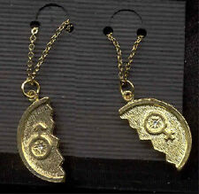 Funky Vintage MALE FEMALE SIGN PENDANTS NECKLACE Retro Gender Symbol Jewelry-SET