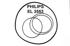 SET RIEMEN PHILIPS EL3553 TONBANDMASCHINE EL 3553 EXTRA STRONG FABRICKFRISCH NEU
