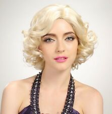 Forever Young Ladies Short Platinum Blonde Curly Fashion Wig Marilyn Monroe Wig