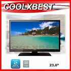 "NEW 23.6"" (24"") LED LCD HD DIGITAL TV DVD COMBO USB PVR MEDIA PLAYER 2x HDMI"