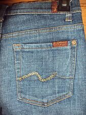 7 For All Mankind Womens Designer Jeans Size 24 Gold Crystals Style U075080UX