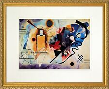 Yellow - Red - Blue. Wassily Kandinsky. Poster Framed (Real Wood Gold Frame #15)