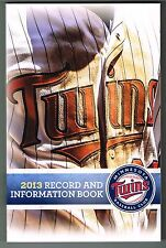 2013 Minnesota Twins MLB Baseball Media GUIDE