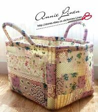 Shabby Lavender Purple Vintage Print Patchwork Storage/Laundry Basket/Bag B05