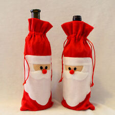 Fancy Santa Claus Outfit Christmas Wine Bottle Bag Cover Christmas Table Decor