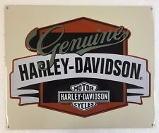 Ande Rooney HARLEY DAVIDSON GENUINE WITH BANNER Tin Motorcycle HD Garage Sign
