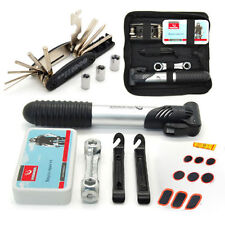 Cycling All in 1 Multi-function Tool Repair Kit Set w/ Pump Bag for Bike Bicycle