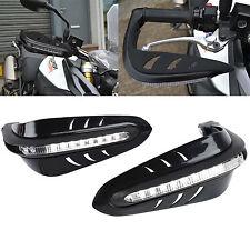 "7/8"" Dirt Bike Scooter ATV Motorcross Motorcycle Brush Bar LED Handguard Black"