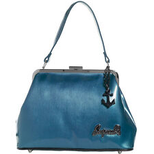 Sourpuss Betsy Anchor Purse Blue Retro Vintage Rockabilly Pinup