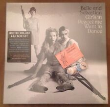 Girls in Peacetime Want to Dance Belle and Sebastian Pin Set 4x Vinyl LP Box New
