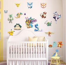POKEMON PIKACHU WALL STICKER Pocket Monster Vinyl Decals Mural Kids Room UK
