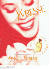 PUBLICITE ADVERTISING 026  1997  Yves Saint-Laurent eau toilette  femme Yvresse