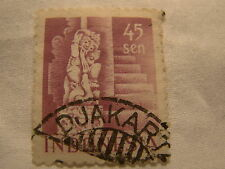 Netherlands Indonesia Stamp 1949 Scott 321 A44  Purple 45 Sen