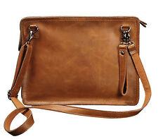 Men's Real Leather Messenger Briefcase Wallet Shoulder Envelope Clutch Bag New