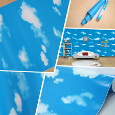 1pc Blue Sky White Clouds Self-adhesive Wall Decals Sticker Kid Room Decoration
