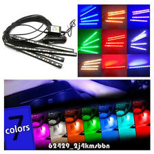 4In1 12-LED RGB Car Footwell Atmosphere Mood Decor Lights Smart APP Control Kit