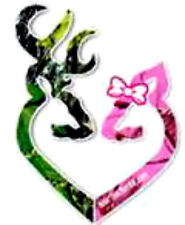 20  WATER SLIDE NAIL ART  DECAL TRANSFERS Pink and Green camo deer double heart
