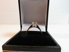 GENUINE MOISSANITE DIAMOND SOLITAIRE 9 CARAT SOLID YELLOW GOLD RING 6.8mm vvs1 M