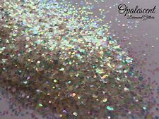 Mixed Nail Glitter Gel/acrylic Nail art Clear White Rainbow MultI Mix Opalescent
