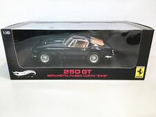 "Hot Wheels 1961 Ferrari 250 GT Berlinetta Passo Corto ""SWB"" Dark Blue 1:18 Boxed"
