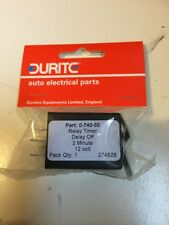 Durite - Relay Timer ''Delay Off'' 2 minute 12 volt Bg1 - 0-740-50