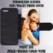 PERSONALISED CUSTOM PRINTED Leather Wallet/Flip Phone Case Cover for iPhone 5C