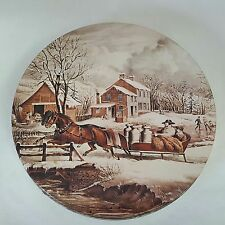 Currier & Ives American Farm Scenes Morley Candy Company Decorative Metal Tin