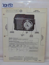 SAMS PHOTOFACT FOLDER MANUAL & SCHEMATIC RADIO EMERSON 778-B CH. 120199B