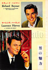 1962, Laurence Harvey Richard Beymer / Sue Lyon Japan Vintage Clippings 4et10