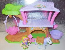 FISHER PRICE LITTLE PEOPLE FAIRY GIRL TREEHOUSE HOUSE HOME FAIRIES PLAY SET LOT