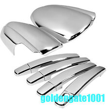 Car Chrome Side Door Handle Rearview Mirror Covers Fit Chevrolet Cruze 09-15 GG