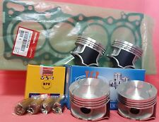 YCP P29 76mm Teflon Coated Pistons High Comp+NPR Rings+Gasket Honda D16 D15