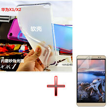 """LZ TPU Gel Rubber Soft Case Cover +Protector For 7"""" Huawei Mediapad Honor X1"""