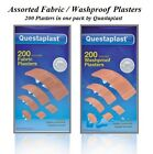 200 ASSORTED LARGE PLASTERS WATERPROOF OR FABRIC BREATHABLE WASH-PROOF PLASTER