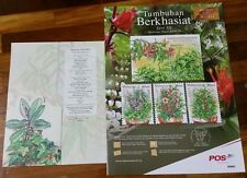 Medicinal Plants Series 3 autographed Malaysia 2015 empty folder Free Poster