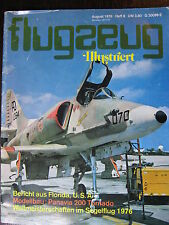 MAGAZINE ALLEMAND AVIATION FLUGZEUG ILLUSTRIERT  AOUT 1976 MEETING MIAMI TORNADO