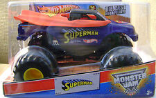 HOT WHEELS MONSTER JAM 1/24 SUPERMAN TRUCK 2013 *new*