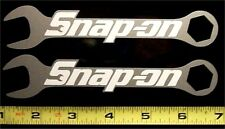 "Snap On Wrenches HQ Vinyl Sticker Decals! White on Silver Met! 6""x1.2"" / 2! em"