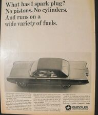 1964 Chrysler Experimental Turbine Car 10 1/2 x 12 3/4 Vintage Art Promo Ad