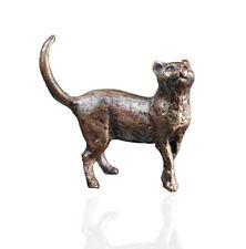 Bronze Cat Standing - Bronze Miniature Sculpture - Butler & Peach.