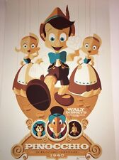 Disney Pinocchio Art Print By Tom Whalen Rare Artist Proof Edition 2011