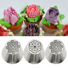 Baking Icing Piping Nozzles Russian Tulip Flower Cake 3Pcs Decorating Tips Tools
