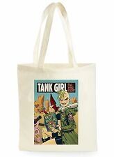 FUNNY TANK GIRL COMIC POSTER COOL SHOPPING CANVAS TOTE BAG IDEAL GIFT PRESENT