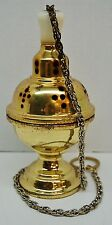 VINTAGE CHURCH CENSER / THURIBLE #9. (CHURCH, INCENSE BURNER)