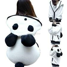 Women's Cute Panda Ear Casual Warm Fleece Hoodie Hooded Coat Jacket Outwear Tops