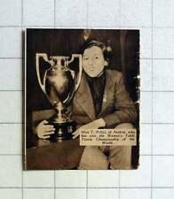 1938 Miss T Pritzi, Austrian Woman's Table Tennis Champion