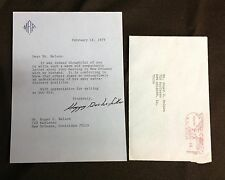 "1979 ""Happy Rockerfeller"" signed letter aft. Death of Vice President Rockefeller"